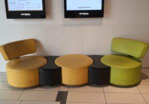 Sofaen uden mødedeltagere